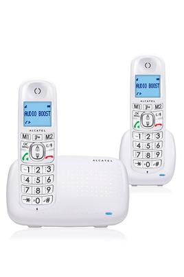 Duo sans fil DECT Avec écran rétro-éclairé bleu Fonction mains libres - 2 Mémoires d'appel direct Présentation du numéro - contacts : 50