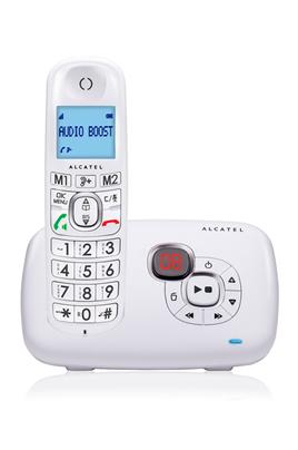 Sans fil Solo avec répondeur de 14 minutes Ecran rétro éclairé bleu Fonction mains libres - présentation du numéro Répertoires de 50 noms et 2 touches d'accès direct
