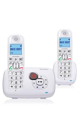 Sans fil Duo avec répondeur de 14 minutes Avec écran rétro éclairé bleu Fonction mains libres - Présentation du numero Répertoires de 50 noms et numeros