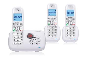 Téléphone sans fil XL385 VOICE TRIO BLANC Alcatel