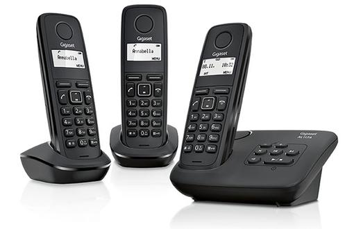 Téléphone sans fil Gigaset AL117A TRIO Noir