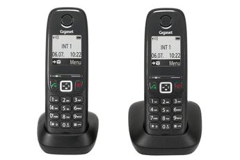 Téléphone sans fil AS415 DUO NOIR Gigaset