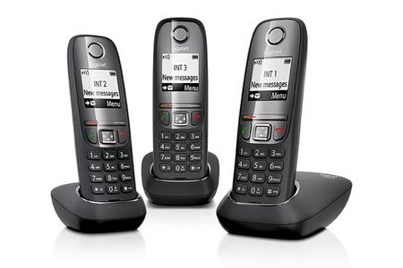 t l phone sans fil gigaset as415 trio noir darty. Black Bedroom Furniture Sets. Home Design Ideas