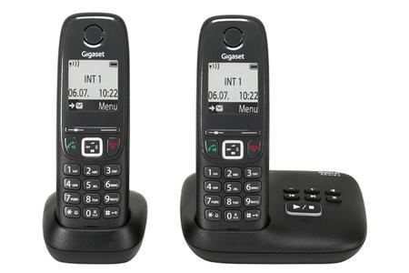 62e3fcf4d66bfe Téléphone sans fil Gigaset AS415A DUO NOIR   Darty