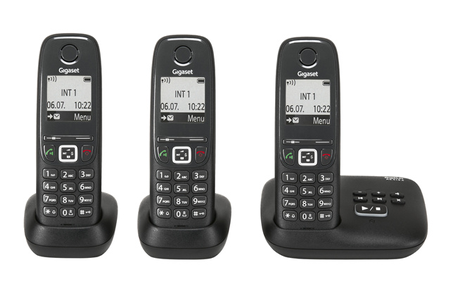 telephone sans fil trio. Black Bedroom Furniture Sets. Home Design Ideas
