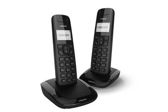 Téléphone sans fil LILA 250 FR BLACK Logicom