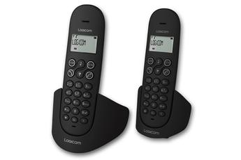 Téléphone sans fil LUNA 255T DUO NOIR Logicom