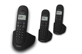 Téléphone sans fil LUNA 355T TRIO NOIR Logicom