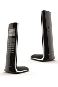 Téléphone sans fil LUXIA 150 NOIR GRIS Logicom