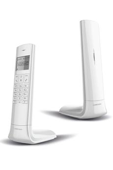 Téléphone sans fil LUXIA 150 BLANC GRIS Logicom