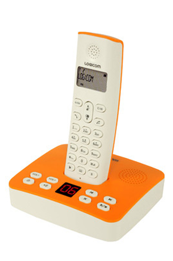 t l phone sans fil logicom riva 450 orange 2833930 darty. Black Bedroom Furniture Sets. Home Design Ideas