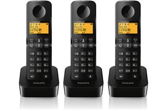 Téléphone sans fil D2103B/FR Philips