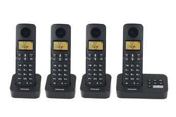 Téléphone sans fil D2154B/FR REPONDEUR QUATTRO Philips