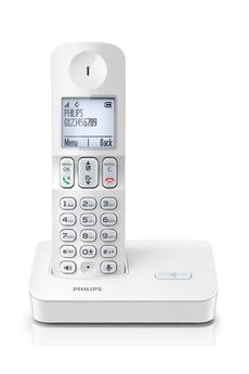 Téléphone sans fil D4001 BLANC Philips