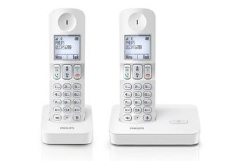 Téléphone sans fil D4002 BLANC Philips