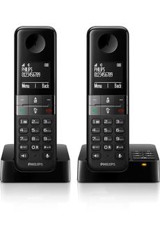 Téléphone sans fil D455 REPONDEUR DUO Philips
