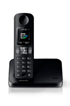 Téléphone sans fil D6001 NOIR Philips