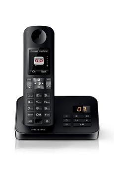 Téléphone sans fil D6051 NOIR Philips