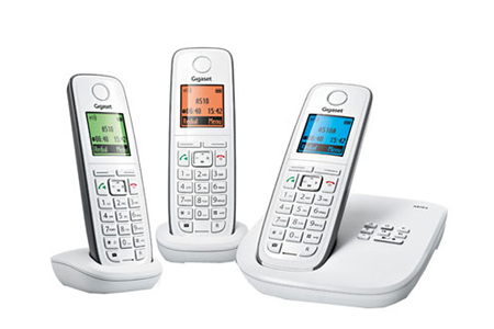 t l phone sans fil gigaset a520a trio a520atrio darty. Black Bedroom Furniture Sets. Home Design Ideas