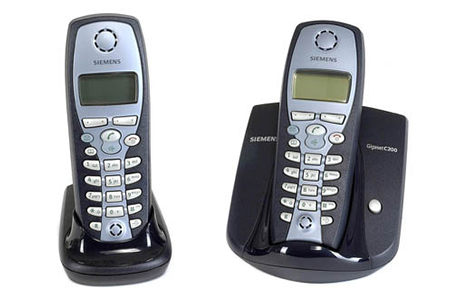 t l phone sans fil siemens gigaset c200 duo c200 duo darty. Black Bedroom Furniture Sets. Home Design Ideas