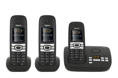t l phone sans fil gigaset c610a trio c610atrio darty. Black Bedroom Furniture Sets. Home Design Ideas