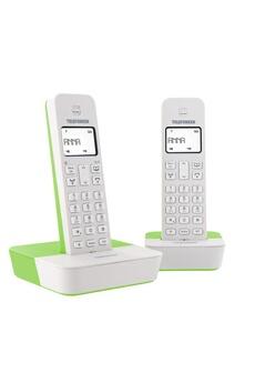 T�l�phone GSM TELEFUNKEN TB302 BLANC VERT DUO SANS REPONDEUR
