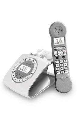 t l phone sans fil thomson classy silver darty. Black Bedroom Furniture Sets. Home Design Ideas