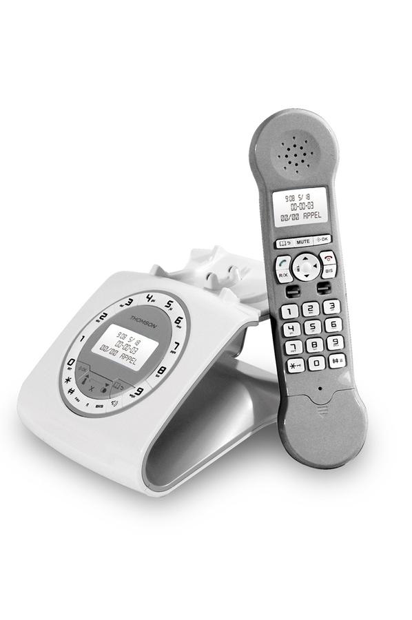 t l phone sans fil thomson classy silver 4077067 darty. Black Bedroom Furniture Sets. Home Design Ideas