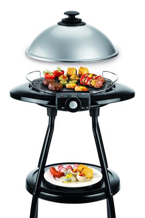 Barbecue proline bbq28 darty - Barbecue electrique sur pied avec couvercle ...