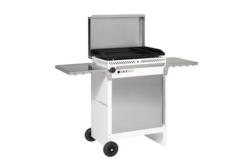 Brûleurs inox 4,8 kW Plancha pour 6 à 8 personnes Plaque de cuisson en acier émaillé Allumage piezzo - Sécurité thermocouple