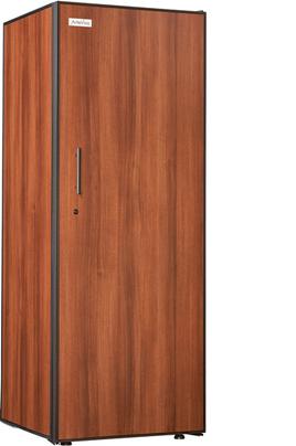 Capacité 230 bouteilles 4 clayettes en bois Dimensions HxLxP : 182.5x68x70 cm Fonction hiver - Porte pleine