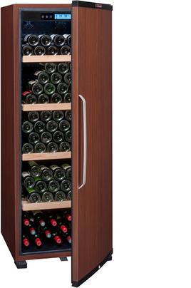 Capacité 186 bouteilles 4 clayettes en bois - Classe A+ Dimensions HxLxP : 155x59.5x71 cm Fonction hiver - Porte pleine