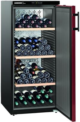 Capacité 164 bouteilles 3 clayettes en bois Dimensions HxLxP : 135x60x73.9 cm Contrôle électronique avec affichage digital
