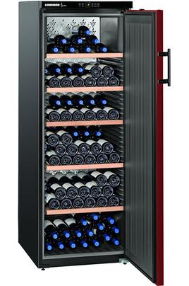 Capacité 200 bouteilles 5 clayettes en bois Dimensions HxLxP : 165x60x73.9 cm Froid brassé - Classe A++