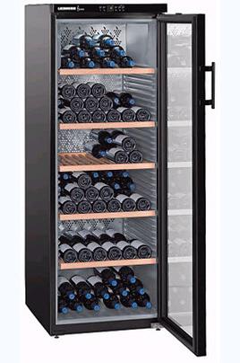Capacité de 200 bouteilles Porte vitrée isolante 5 clayettes en bois Affichage digital de la température