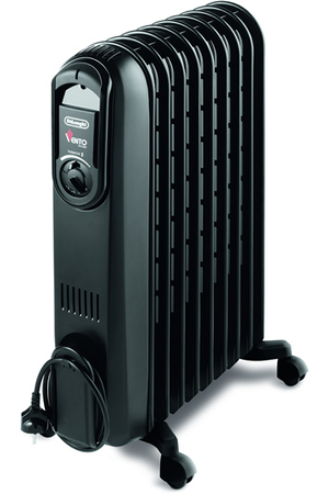 radiateur bain d 39 huile delonghi v550920b vento black. Black Bedroom Furniture Sets. Home Design Ideas
