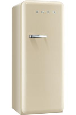 Capacité 170 litres - Hauteur : 151 cm Froid statique - Classe A+ 3 tiroirs + 2 abattants transparents Style Rétro - Charnières à droite