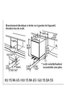 Congélateur encastrable GU15DA55 BLANC Siemens