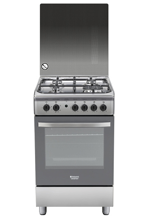 Gaziniere Hotpoint HTGCG X FR INOX Darty - Cuisiniere gaz four pyrolyse inox pour idees de deco de cuisine
