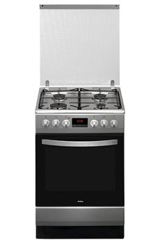 """4 foyers gaz jusqu'à 3000 W Largeur 50 cm - Table de cuisson gaz Four électrique de 65 L- Nettoyage: catalyse 1 four multifonction """"chaleur tournante"""""""