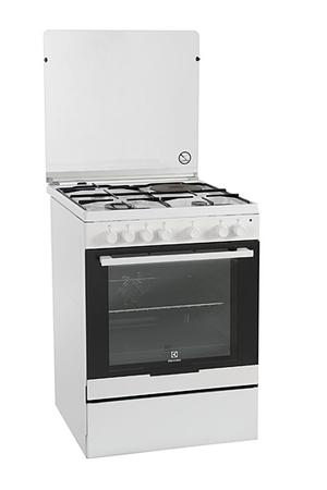 Cuisinière Mixte Electrolux EKMAOW BLANC Darty - Cuisiniere 4 feux gaz four electrique catalyse pour idees de deco de cuisine