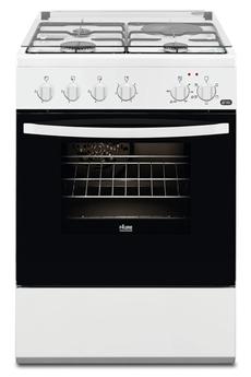 Largeur 60 cm - Table de cuisson mixte (gaz + électrique) 4 foyers jusqu'à 3000 W Capacité du four 54 L - Nettoyage catalyse Four cuisson multifonction air brassé - Couvercle en verre