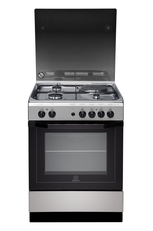Cuisini re mixte indesit i6m6cag x fr inox 4017358 darty for Four gaz ou electrique