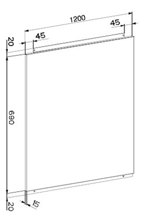 Cr dence roblin lido 120 cm 6406020 2471086 darty - Credence hauteur 30 cm ...