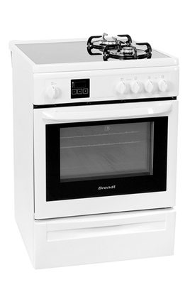 Avis Clients Pour Le Produit Cuisinière Mixte Brandt KIP W - Gaziniere mixte gaz induction pour idees de deco de cuisine