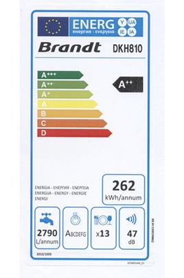 Lave-vaisselle table de cuisson Brandt DKH810 BLANC