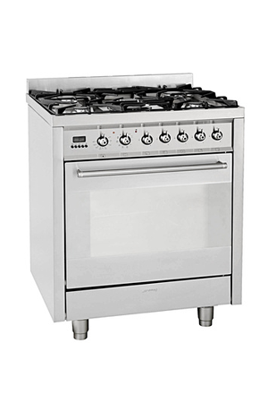 Piano De Cuisson Smeg CGPX INOX Darty - Cuisiniere mixte 4 feux gaz four electrique pyrolyse pour idees de deco de cuisine