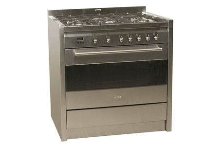 Piano de cuisson smeg cs 15 5 inox darty for Piano de cuisine smeg