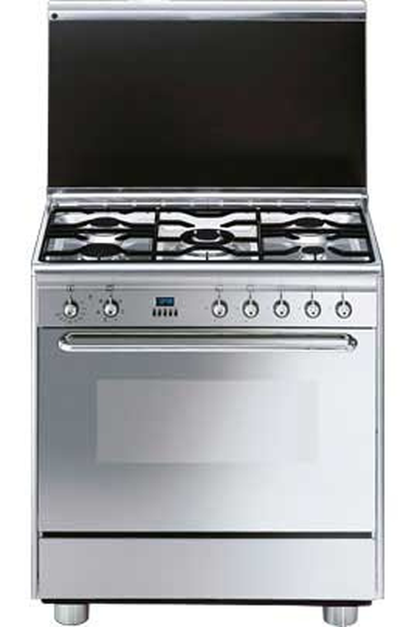 Piano de cuisson smeg scb 80 mfx5 inox 2062003 darty for Piano cuisine induction