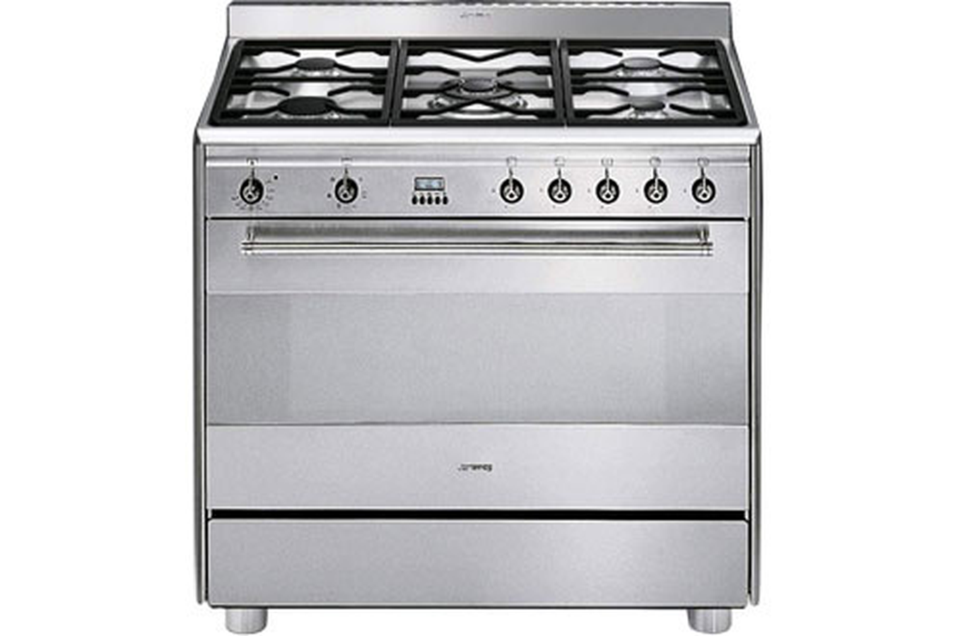 Piano de cuisson smeg scb 91 mfx 5 inox 2013177 darty for Piano cuisine electrique